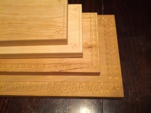 Carved cutting boards